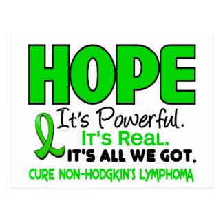 Carte Postale ESPOIR 1 de vert de chaux de lymphome