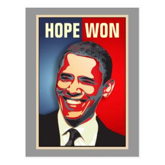 Carte Postale Espoir gagné - Barack Obama