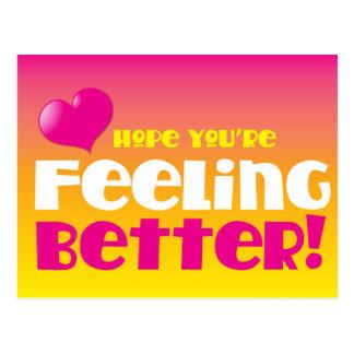 Carte Postale Espoir que vous vous sentez mieux ! obtenez bien