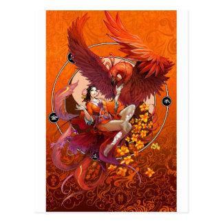 Carte Postale Esprit chinois de l'élémentaire chinois de Phoenix
