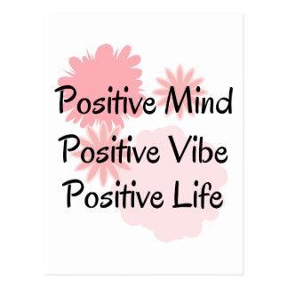 Carte Postale Esprit positif, Vibe positif, citation positive de