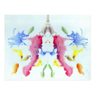 Carte Postale Essai de tache d'encre de Rorschach