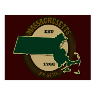 Carte Postale Est 1788 du Massachusetts
