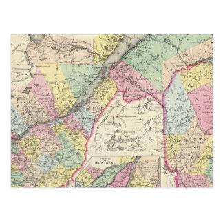 Carte Postale Est du Canada ou le Canada et le Nouveau Brunswick
