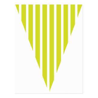Carte Postale Étamine colorée de drapeau de vert de chaux de