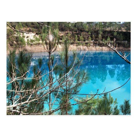 carte postale étang bleu touverac charente