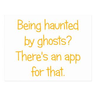Carte Postale Étant hanté par des fantômes ?
