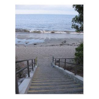 Carte Postale étapes à la plage