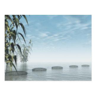 Carte Postale Étapes de zen à l'horizon