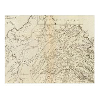 Carte Postale État de Virginie