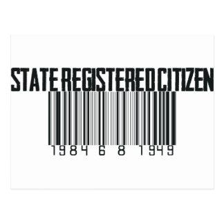 Carte Postale État enregistré