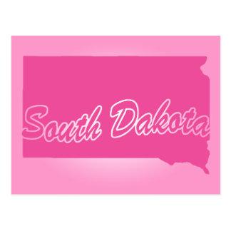 Carte Postale État rose le Dakota du Sud