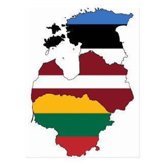 Carte Postale États baltiques
