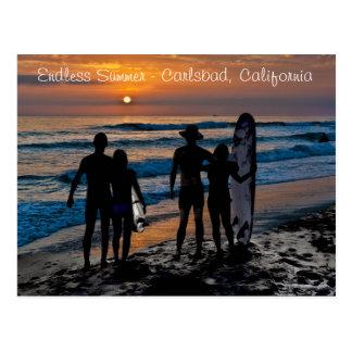 Carte Postale Été sans fin à Carlsbad, la Californie
