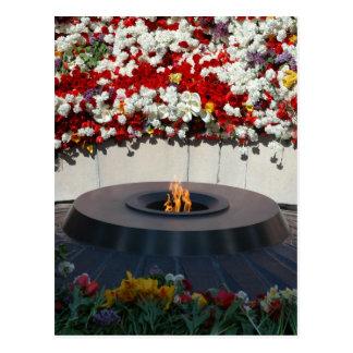 Carte postale éternelle de flamme