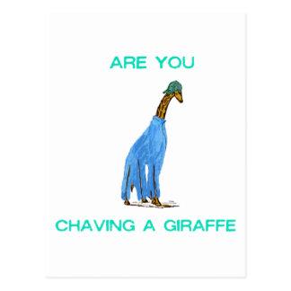 Carte Postale Êtes vous Chaving un Giraffe.png