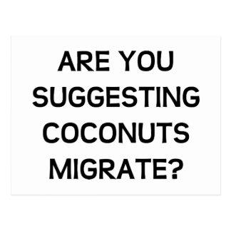 Carte Postale Êtes vous des noix de coco