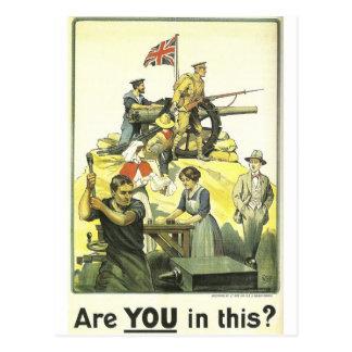 """Carte Postale """"Êtes vous en cela ?"""" 1915, musée impérial de"""