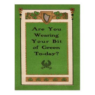 Carte Postale Êtes vous portant votre Jour de la Saint Patrick