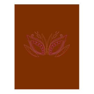 Carte Postale Ethno brun de mandalas de conception