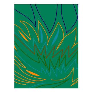 Carte Postale Ethno vert d'éléments de conception