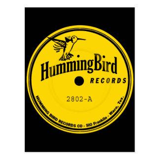 Carte Postale Étiquette de disques de colibri