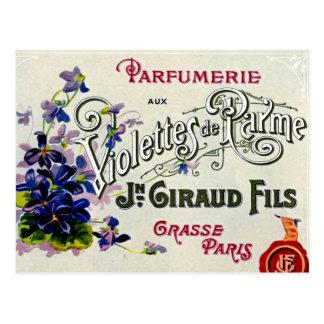 Carte Postale Étiquette de parfum de Violette de Français