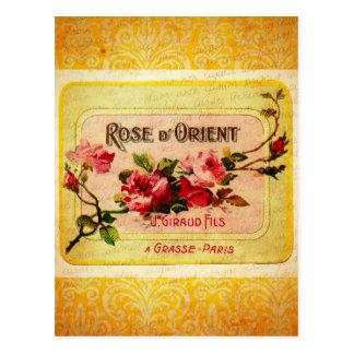 Carte Postale Étiquette français vintage de parfum
