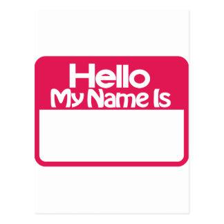 Carte Postale Étiquette nommée