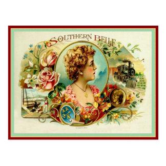 Carte Postale Étiquette vintage de boîte à cigares