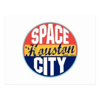 Carte Postale Étiquette vintage de Houston