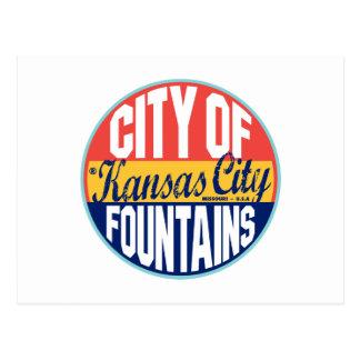 Carte Postale Étiquette vintage de Kansas City