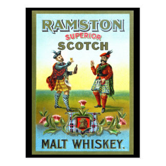 Carte Postale ÉTIQUETTE vintage de whisky écossais