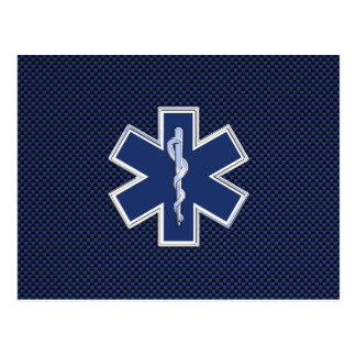 Carte Postale Étoile de l'infirmier SME de la vie sur la fibre