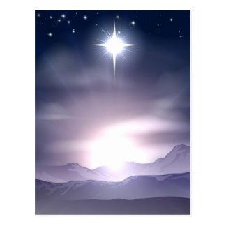 Carte Postale Étoile de Noël de nativité de Bethlehem