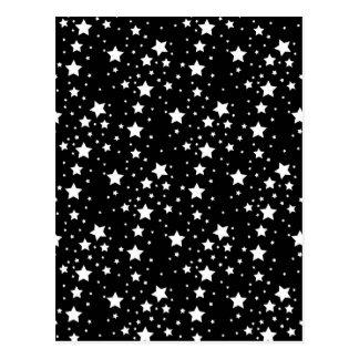 Carte Postale Étoiles noires et blanches