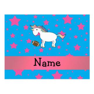 Carte Postale Étoiles nommées personnalisées de licorne du
