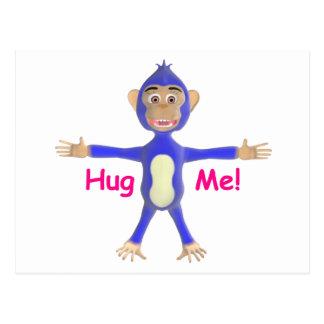 Carte Postale Étreignez-moi chimpanzé