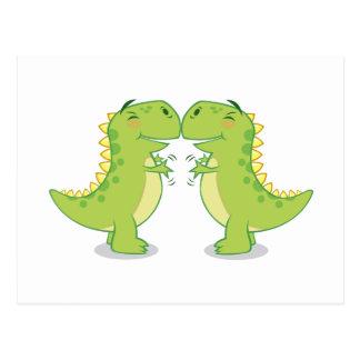 Carte Postale Étreinte de T-Rex… si étroite