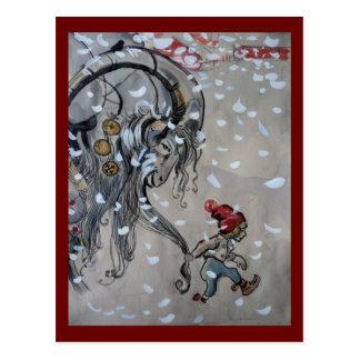 Carte Postale Étude pour Julbocken (chèvre de Noël) 1911