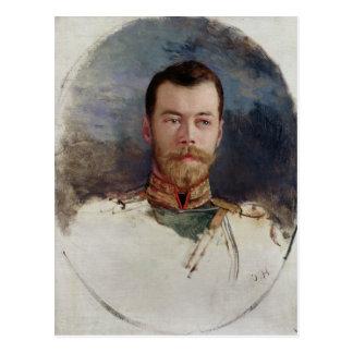 Carte Postale Étudiez pour un portrait de tsar Nicholas II 1898