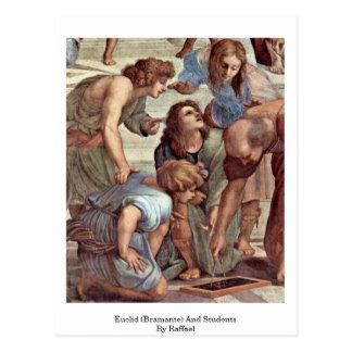 Carte Postale Euclid (Bramante) et étudiants par Raffael