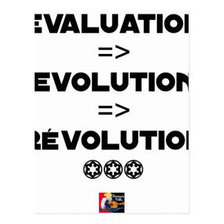 Carte Postale EVALUATION EVOLUTION RÉVOLUTION- JEUX DE MOTS - Je