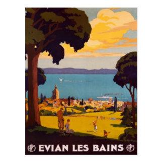 Carte Postale Évian-les-Bains vintage, Rhône Alpes, France -
