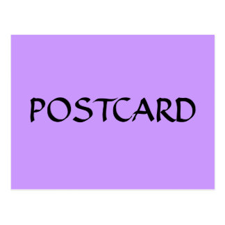 Carte postale évidente