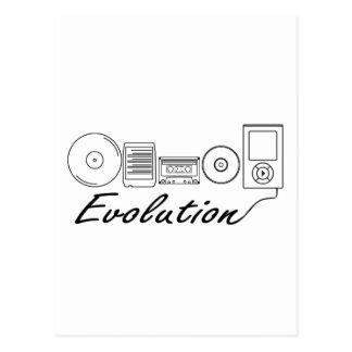 Carte Postale Évolution de la musique
