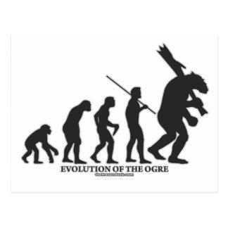 Carte Postale Évolution de l'ogre