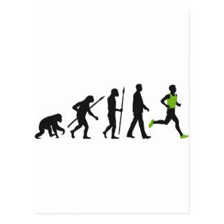 Carte Postale Évolution marathon plus runner