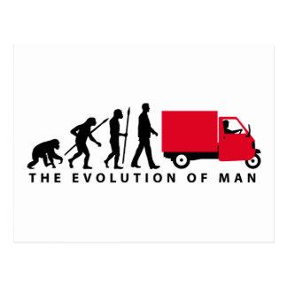 Carte Postale Évolution of Piaggio Ape mini+ transporteurs