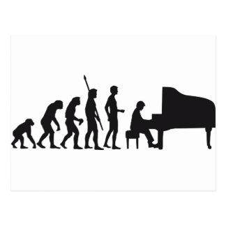 Carte Postale évolution piano